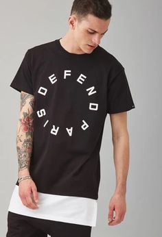 Defend Paris Graphic Layered Tee   via Forever 21   #lyoness