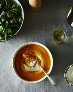 A sweet and spicy vegan soup, perfect for chilly autumn nights.