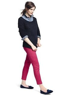 I have everything to put this outfit together except for pink pants. But I could wear my red cords.  Gap