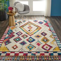 Bungalow Rose Wayne Moroccan Tribal Ivory/Yellow Area Rug Rug Size: Rectangle x Wool Carpet, Rugs On Carpet, Moroccan Decor Living Room, Moroccan Bedroom, Carpet Trends, Carpet Ideas, Yellow Area Rugs, Bedroom Carpet, Shopping