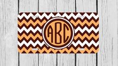 Personalized Monogrammed Chevron Brown Light by TopCraftCase