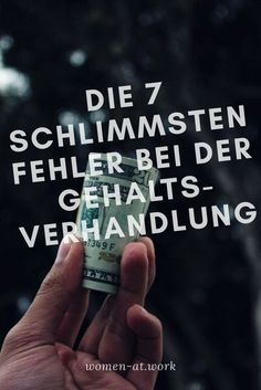 Die 7 schlimmsten Fehler in Gehaltsverhandlungen Your reward is not enough? You want a raise for your job? Then you should read this article beforehand. There are 7 bad mistakes you can make at a salary negotiation and get your salary. Money On My Mind, Neuer Job, Planning Budget, Financial Planning, Joelle, Money Spells, Job Work, Job Search, Social Skills