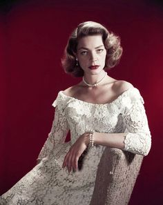 Lauren Bacall- Always so cool. Love this dress from How to Marry a Millionaire.