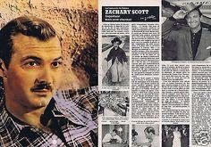 Coupure de presse Clipping 1980 Zachary Scott  (4 pages)