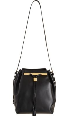 The Row Style Drawstring Bucket Bag