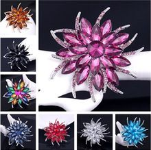 6pcs/lot fashion Zircon brooch wholesale female pins jewelry cameo large rhinestones brooches for women bijouterie Pendant(China (Mainland))