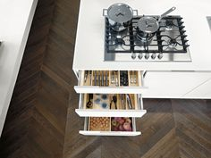 In the #cucina #kitchen every cm. is precious, but space is very often wasted…