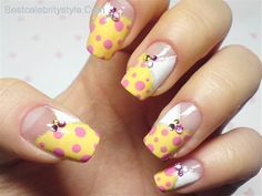 cool 14 Gorgeous Yellow Nail Designs