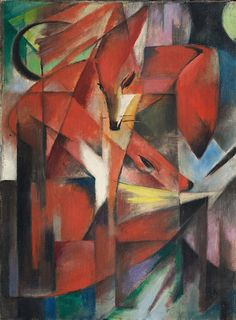 Franz Marc Poster - The Foxes