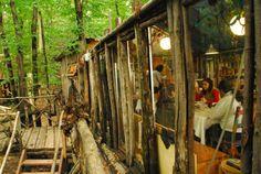 Piemonte (Italia) : un intero villaggio di case sugli alberi