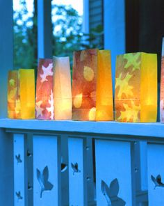 Fall Luminaries and 20 other great fall craft ideas