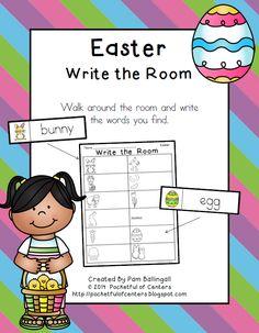 Easter Write the Room Center