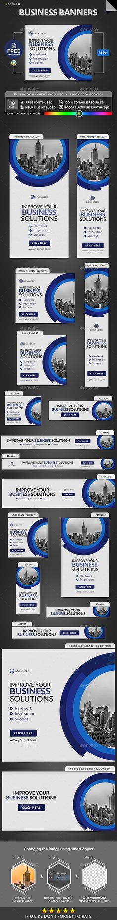 Business Banners Template PSD