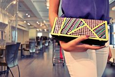 colorful beaded clutch #nicolemiller
