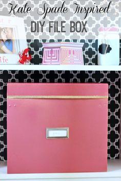 DIY Kate Spade Inspired File Boxes