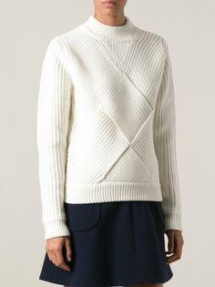 Carven Suéter de crochê