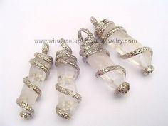 Quartz Crystal Coiled Alpaca Silver Pendantshttp://www.wholesaleperuvianjewelry.com