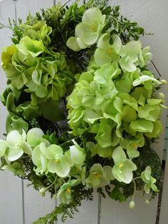 Items similar to Hydrangea Wall Basket Saint Patrick's Day Summer Wreath Hydrangea Wreath Green Wreath Mother's Day Gift Door Decorations on Etsy Purple Wreath, Green Wreath, Floral Wreath, Green Hydrangea, Hydrangea Wreath, Hydrangeas, Baskets On Wall, Wall Basket, Indoor Wreath