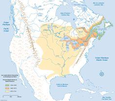 Les explorations françaises en Amérique du Nord