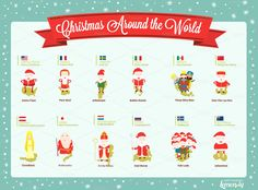 Christmas Around the World by Lemonly on @creativemarket
