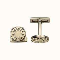 Licol Reverse cufflinks | Hermès USA Charm Jewelry, Hermes, Cufflinks, Plating, Metal, Hardware, Gold, Usa, Accessories