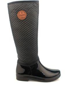 Černé prošívané dámské holinky Break&Walk Rubber Rain Boots, Riding Boots, Walking, Shoes, Fashion, Dark Around Eyes, Horse Riding Boots, Moda, Zapatos