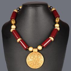 Featuring this red agates and shells necklace on Zarilane.com. Go, Grab yourself one Now!