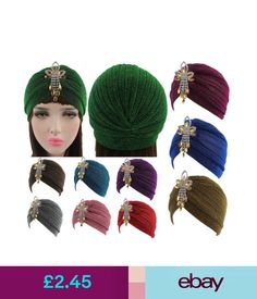 0a5c93a89376 Hats Glitter Shimmer Turban Head Band Hat Cap Hijab Hair Wrap Hair Loss  Chemo Bandana  ebay  Fashion