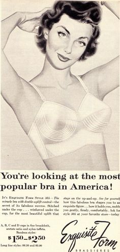 A Bullet Bra and Other Vintage Bras From the Fifties
