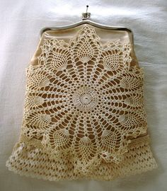 Dawn's altered coin purse... love the doilies