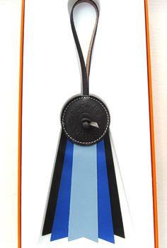 Hermes Paddock Flot Horse Ribbon Charm Equestrian Love image 4