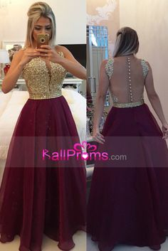 2016 Burgundy/Maroon Prom Dresses Scoop A Line With Sash
