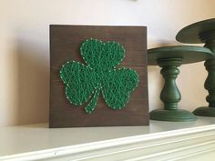 Check out this item in my Etsy shop https://www.etsy.com/listing/502818339/made-to-order-shamrock-string-art