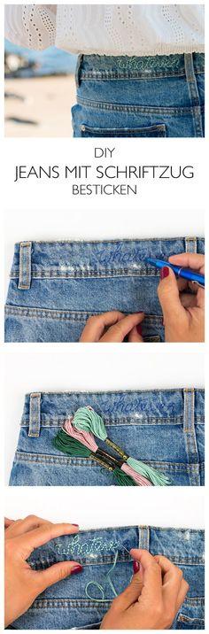 Step-by-Step Anleitung _ Jeans besticken - Sticnaleitung für Anfaenger - DIY Blog