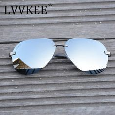 2017 LVVKEE Luxury Brand Classi Aviator HD Polarized Men women Driver Mirror sunglasses Rimless eyeglasses Gafas Oculos UV400