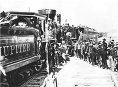 The transcontinental railroad was built between 1863 and 1869. Two compaines built it and they were the Central Pacific Railroad Company and the Union Pacific Railroad Company. Thetwo different companies built seperate railroads and they joined each other in Promontory, Utah. Funds were provided by US government loans and grants.