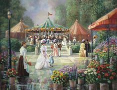 'The carousel' Print By Bettie Hebert-Felder