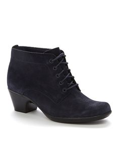 Another great find on #zulily! Navy Ingalls Lace Q Boot by Clarks #zulilyfinds