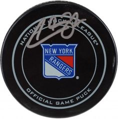 Filip Chytil New York Rangers Autographed Official Game Puck b37eb5065