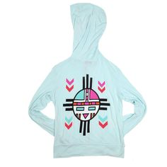 The perfect hoodie for those neverending days at the beach.  The Beach Native zip up hoodie from Wildfox is so soft, it feels as if you've had it for years.