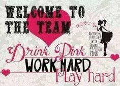 Welcome to our team! #drinkingpinkgeorgiadotcom