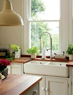 Kitchens with wood countertop