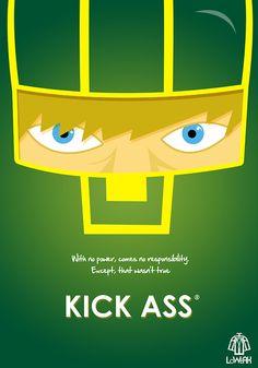 #KickAss Minimalist poster  http://parallelgameworld.tumblr.com