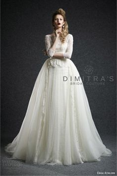 Ersa Atelier available at Dimitra's Bridal Couture #ErsaAtelier #sheer #illusion…