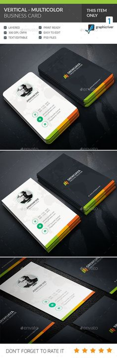 Vertical Multicolor Business card  - Creative Business Cards.Download here:http://graphicriver.net/item/vertical-multicolor-business-card-/16228280?ref=mh219