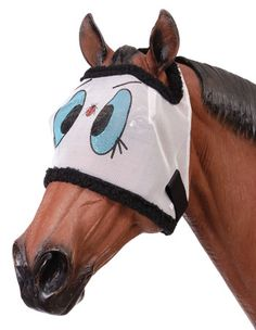 How cute would your horse be, standing in the field with this whimsical fly mask?