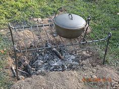 Iron Cooking Grill, Open Fire, Camping, Reenactors, Bug Out, Blacksmith Made | eBay