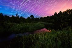 This awesome artist uses time-lapse photography to create images of the landscape and sky full of movement. Star Lines and Fireflies, by Matt Molloy Time Lapse Photography, Art Photography, Photo Merge, Firefly Art, Thing 1, Modern Shop, Create Image, Spotlights, Go Outside