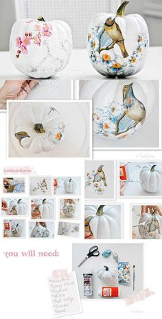 Pompoen decoupage | Creative Expressions