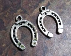 Horseshoe Charms Good Luck Charms Antiqued by theslipperypearl